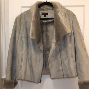 Faux suede and fur lined jacket